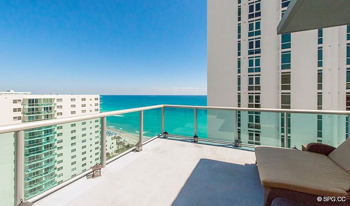 Spacious Terrace for Penthouse 10 at Sian Ocean Residences, Luxury Oceanfront Condominiums Hollywood Beach, Florida 33019