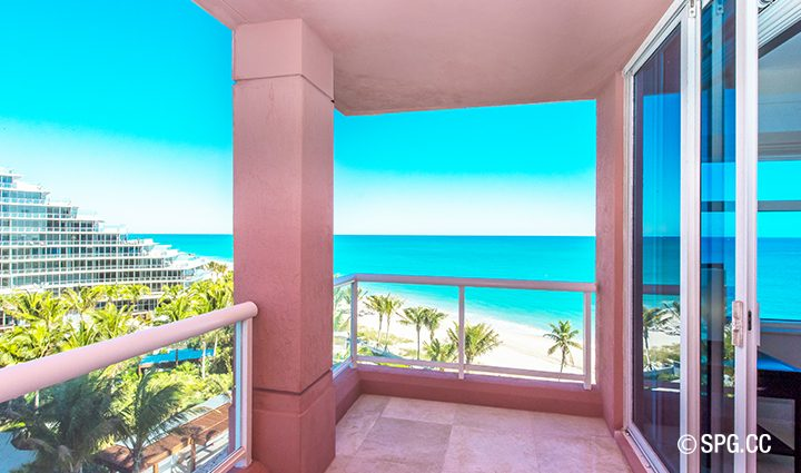 Terrace View From Residence 9B Tower 2 at The Palms Luxury Condominiums, Fort Lauderdale, Florida 33305