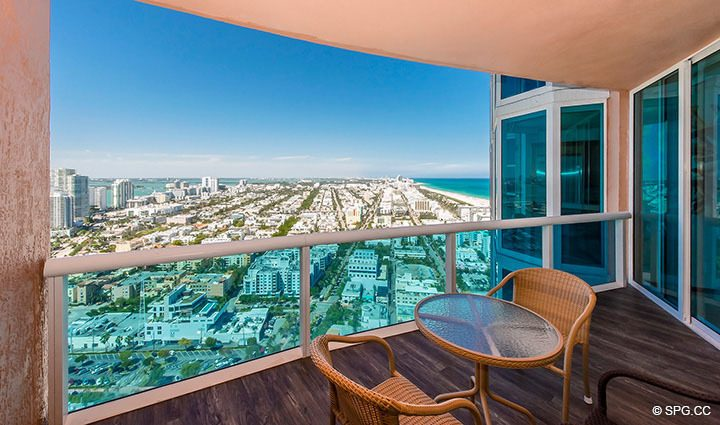 Master Terrace for Residence 3806 at Portofino Tower, Luxury Waterfront Condominiums in Miami Beach, Florida 33139