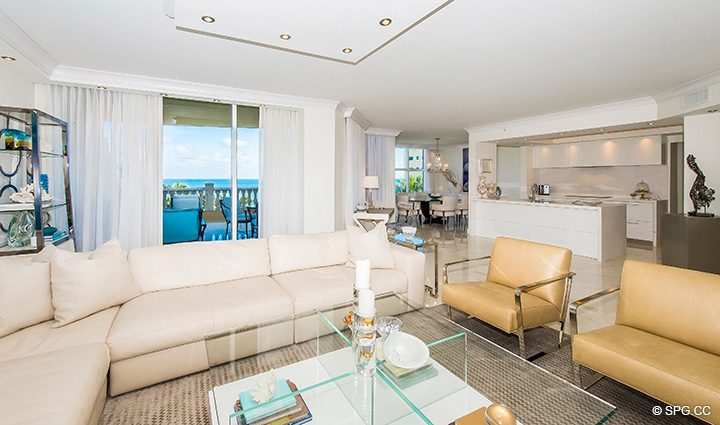 Newly Renovated Residence 5D, Tower I at The Palms, Luxury Oceanfront Condominiums Fort Lauderdale, Florida 33305
