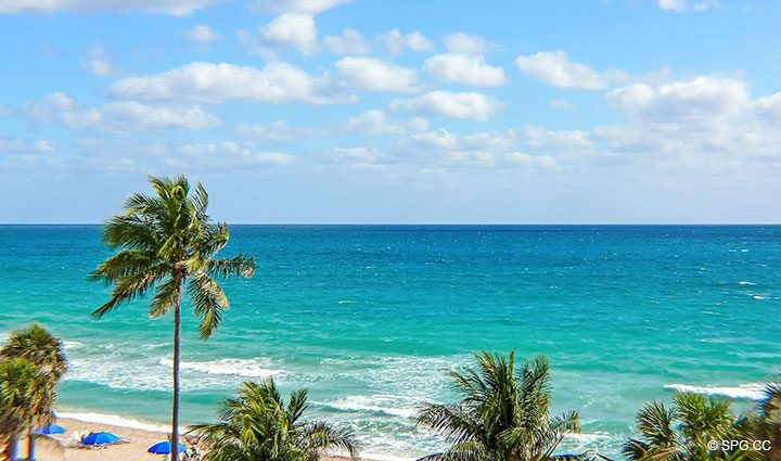 Ocean Views from Residence 803 at Las Olas Beach Club, Luxury Oceanfront Condos in Fort Lauderdale, Florida 33316.