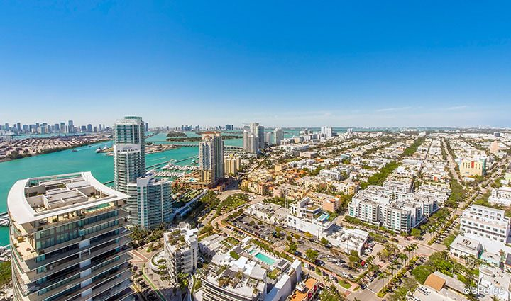 Master Terrace City Views from Residence 3806 at Portofino Tower, Luxury Waterfront Condominiums in Miami Beach, Florida 33139