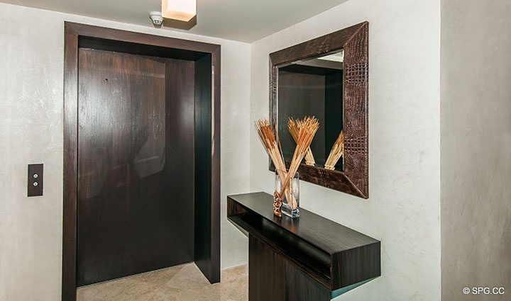 Private Elevator Landing for Residence 11B, Tower I at The Palms, Luxury Oceanfront Condominiums Fort Lauderdale, Florida 33305