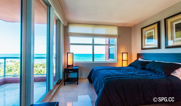 Bedroom inside Residence 9B Tower 2 For Sale at The Palms, Luxury Oceanfront Condominiums Fort Lauderdale, Florida 33305