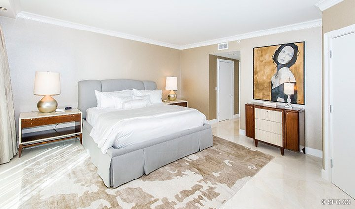 Beautifully Designed Master Suite in Residence 5D, Tower I at The Palms, Luxury Oceanfront Condominiums Fort Lauderdale, Florida 33305