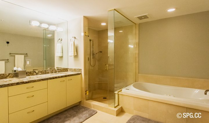 Bath inside Residence 9B Tower 2 For Sale at The Palms, Luxury Oceanfront Condominiums Fort Lauderdale, Florida 33305
