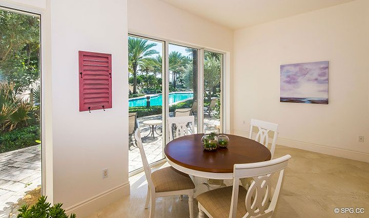 Private Cabana Offered with Residence 204 at Bellaria, Luxury Oceanfront Condominiums in Palm Beach, Florida 33480.
