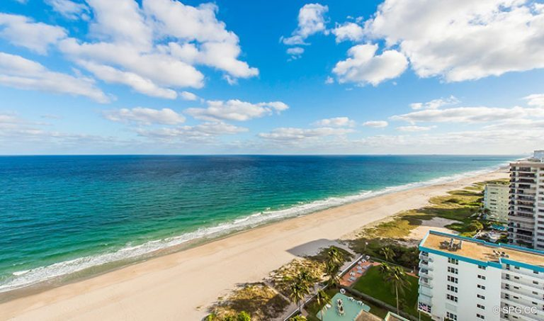 Gorgeous Ocean Views from Residence 18D at Cristelle, Luxury Oceanfront Condominiums in Lauderdale by the Sea, Florida 33062.