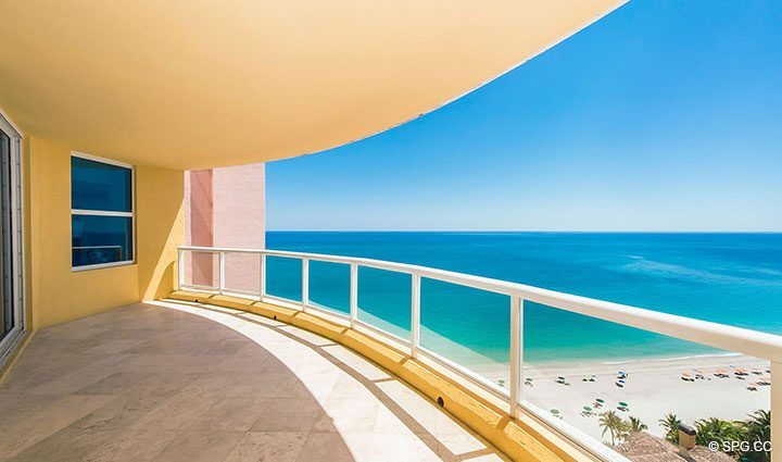 Beachfront Terrace for Residence 19A/D, Tower II at The Palms, Luxury Oceanfront Condominiums Fort Lauderdale, Florida 33305