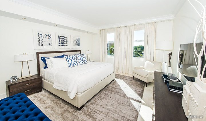 Guest Bedroom in Residence 5D, Tower I at The Palms, Luxury Oceanfront Condominiums Fort Lauderdale, Florida 33305