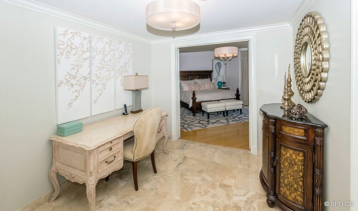 Master Suite Foyer inside Residence 12B, Tower I at The Palms, Luxury Oceanfront Condominiums Fort Lauderdale, Florida 33305