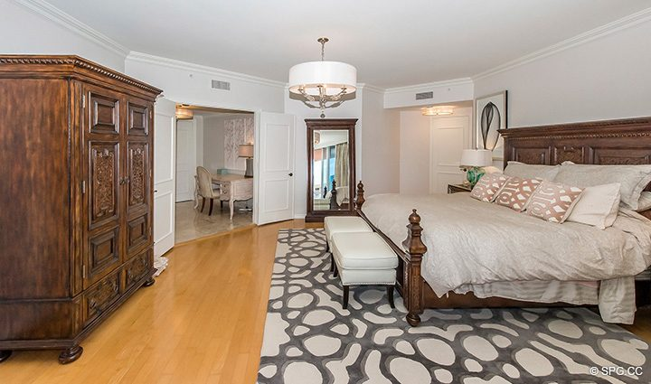 Large Master Suite inside Residence 12B, Tower I at The Palms, Luxury Oceanfront Condominiums Fort Lauderdale, Florida 33305