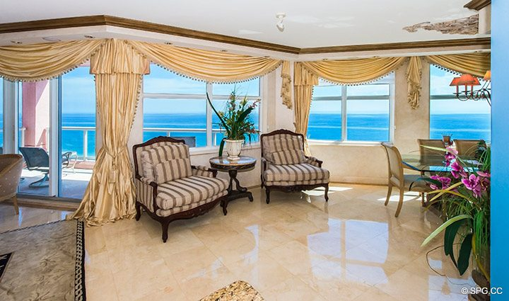 Superb Ocean Views in Residence 18B, Tower I at The Palms, Luxury Oceanfront Condominiums Fort Lauderdale, Florida 33305