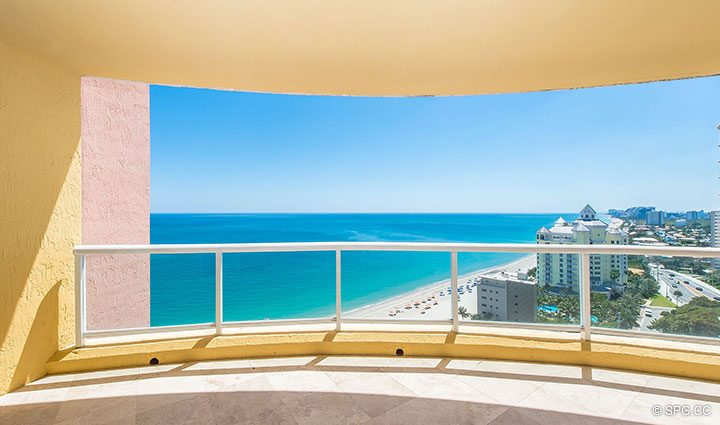 Large Private Terrace for Residence 19A/D, Tower II at The Palms, Luxury Oceanfront Condominiums Fort Lauderdale, Florida 33305