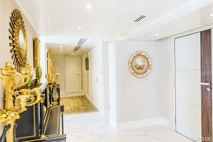 Entry into Residence 1106 at Acqualina, Luxury Oceanfront Condominiums in Sunny Isles Beach, Florida 33160