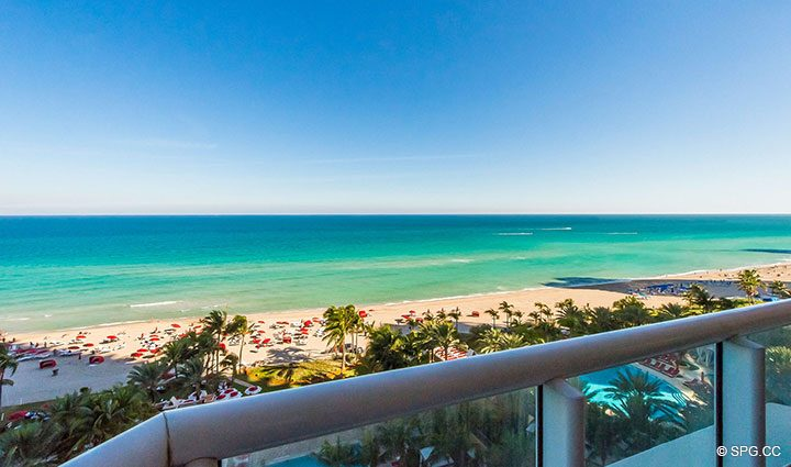Southeast Views from Residence 1106 at Acqualina, Luxury Oceanfront Condominiums in Sunny Isles Beach, Florida 33160