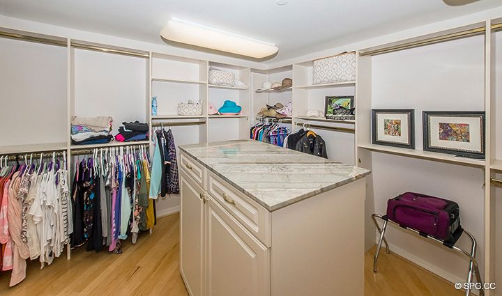Oversized Master Wardrobe in Residence 12B, Tower I at The Palms, Luxury Oceanfront Condominiums Fort Lauderdale, Florida 33305