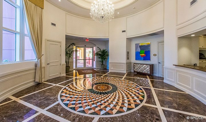 Lobby at The Palms, Luxury Oceanfront Condominiums Fort Lauderdale, Florida 33305