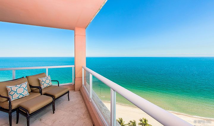 Relax on Your Terrace at Residence 17B, Tower II at The Palms, Luxury Oceanfront Condos in Fort Lauderdale, Florida 33305.