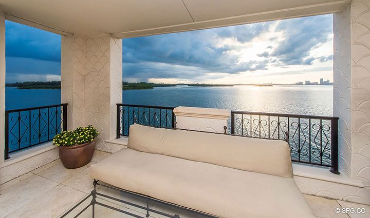 Expansive Bayside Terrace for Luxury Oceanfront Condo Residence 5152 Fisher Island Drive, Miami Beach, FL 33109