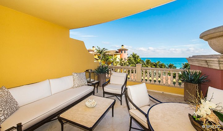 Spacious Terrace for Residence 5D, Tower I at The Palms, Luxury Oceanfront Condominiums Fort Lauderdale, Florida 33305