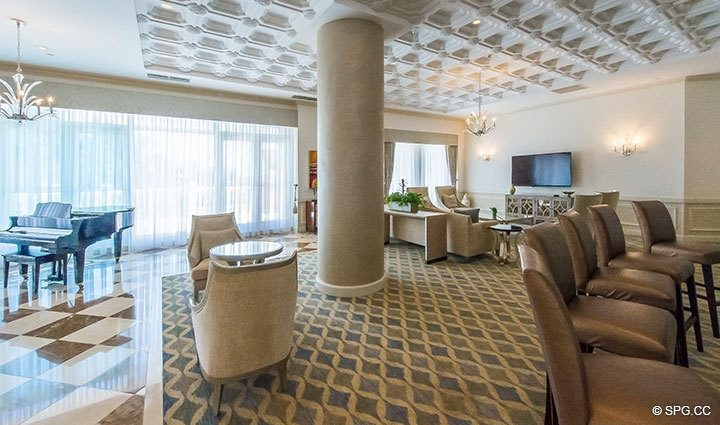 Lavish Social Space at The Palms, Luxury Oceanfront Condominiums Fort Lauderdale, Florida 33305
