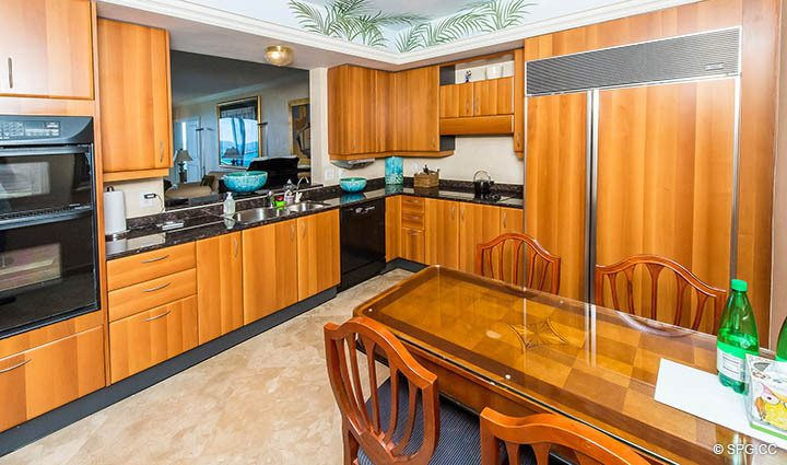 Kitchen inside Residence 12A, Tower I at The Palms, Luxury Oceanfront Condominiums Fort Lauderdale, Florida 33305