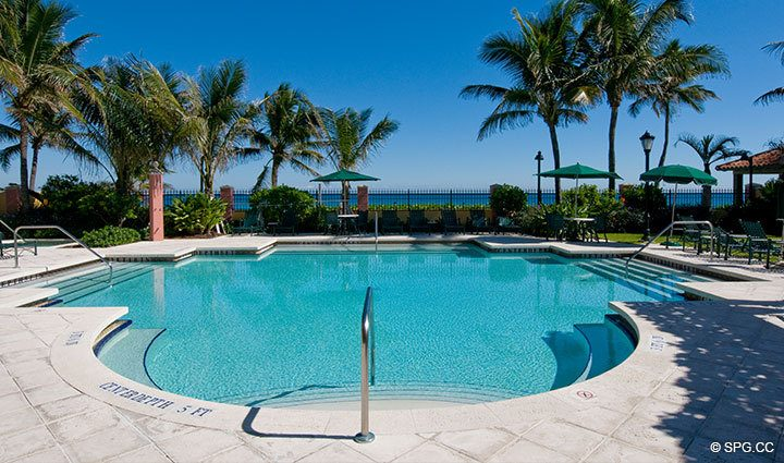 Beachfront Pool at The Palms, Luxury Oceanfront Condominiums Fort Lauderdale, Florida 33305