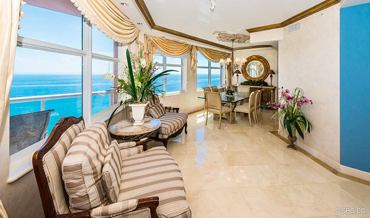 Spectacular Ocean Views from Residence 18B, Tower I at The Palms, Luxury Oceanfront Condominiums Fort Lauderdale, Florida 33305