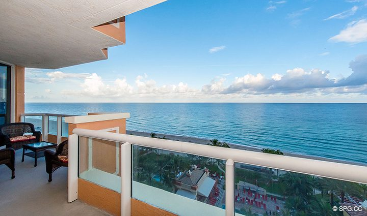 Oceanfront Terrace for Residence 1106 at Acqualina, Luxury Oceanfront Condominiums in Sunny Isles Beach, Florida 33160