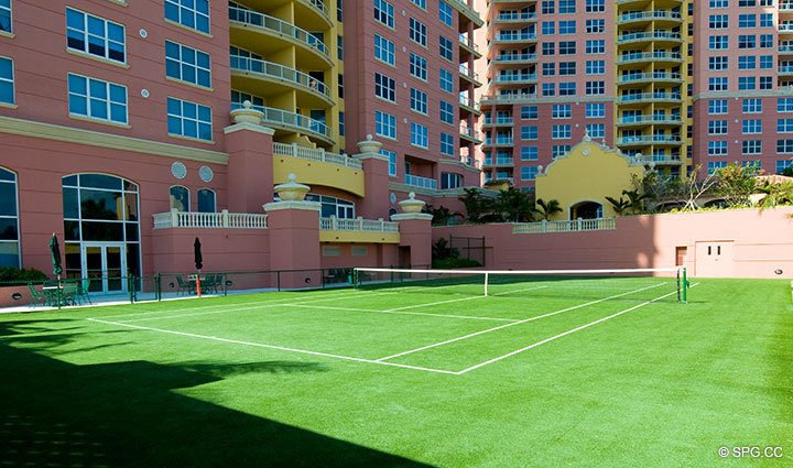 Tennis Court at The Palms, Luxury Oceanfront Condominiums Fort Lauderdale, Florida 33305