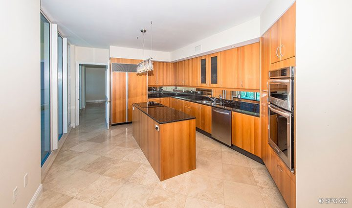 Gourmet Kitchen for Residence 19A/D, Tower II at The Palms, Luxury Oceanfront Condominiums Fort Lauderdale, Florida 33305