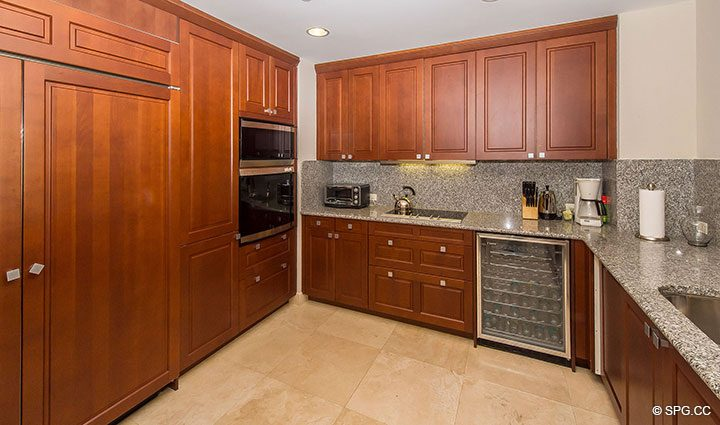 Gourmet Kitchen in Luxury Oceanfront Condo Residence 5152 Fisher Island Drive, Miami Beach, FL 33109