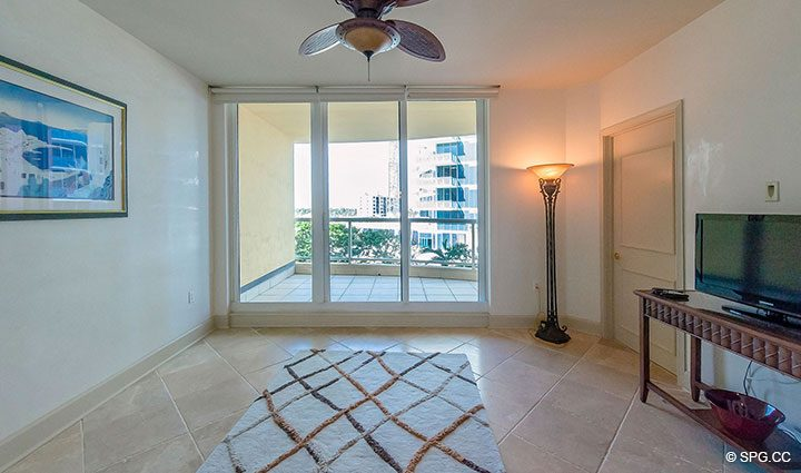 Den with Terrace Access in Residence 6A, Tower II For Sale at The Palms, Luxury Oceanfront Condominiums Fort Lauderdale, Florida 33305