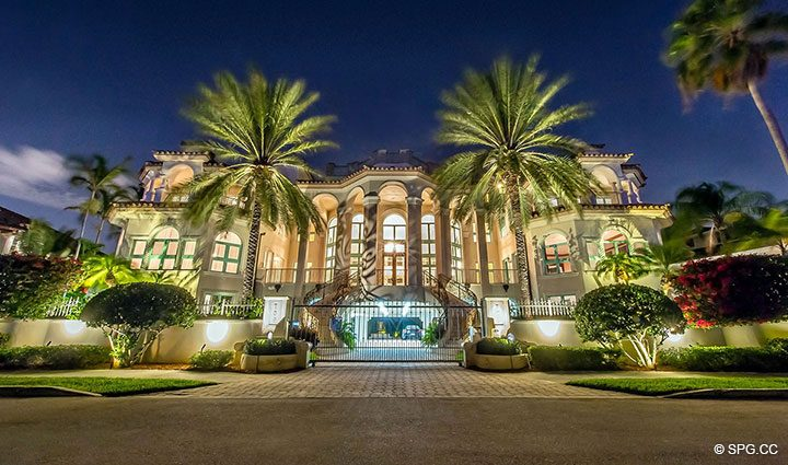 Front of Luxury Estate Home 709 Idlewyld Drive, Fort Lauderdale, Florida 33301
