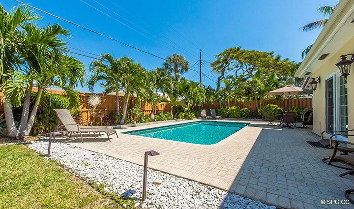 Backyard with Pool Area at 1911 NE 56th Court, Fort Lauderdale, Florida 33308