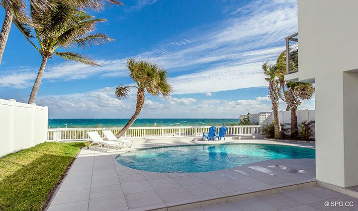 Walkup to Pool Deck at Luxury Oceanfront Home, 2712 North Atlantic Boulevard, Fort Lauderdale, Florida 33308