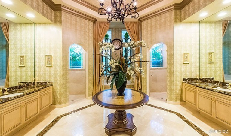 Master Bath inside Luxury Estate Home, 16260 Bridlewood Circle, Delray Beach, Florida 33445