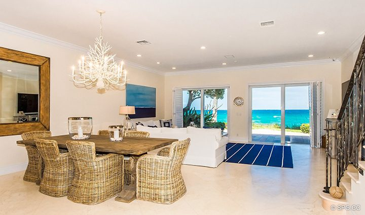 Great Room inside Residence 3A at 1153 Hillsboro Mile, a Luxury Oceanfront Townhome For Rent in Hillsboro Beach, Florida 33062