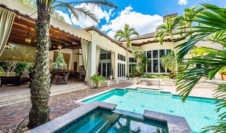Backyard Oasis at Luxury Estate Home, 16260 Bridlewood Circle, Delray Beach, Florida 33445