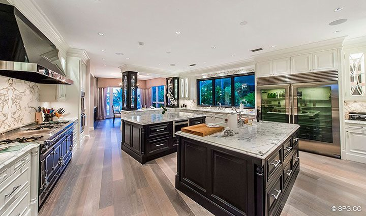 Exceptional Chef's Kitchen in Estate Home 709 Idlewyld Drive, Fort Lauderdale, Florida 33301