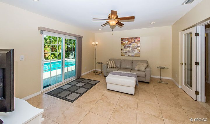 Den Leading to Pool at 1911 NE 56th Court, Fort Lauderdale, Florida 33308