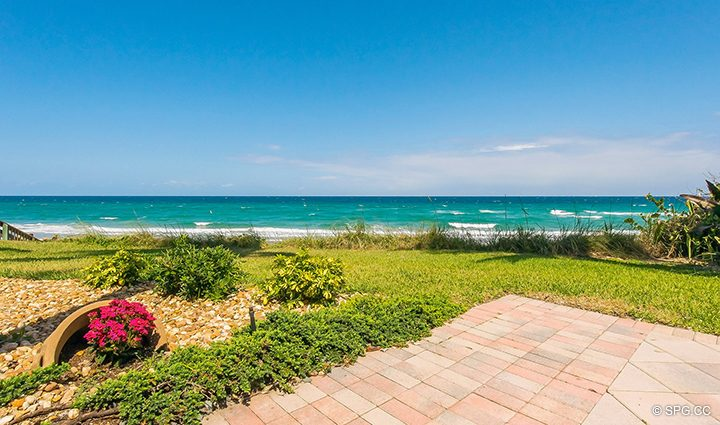 Superb Ocean VIews from Residence 3A at 1153 Hillsboro Mile, a Luxury Oceanfront Townhome For Rent in Hillsboro Beach, Florida 33062