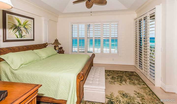 Master Bedroom inside Residence 3A at 1153 Hillsboro Mile, a Luxury Oceanfront Townhome For Rent in Hillsboro Beach, Florida 33062