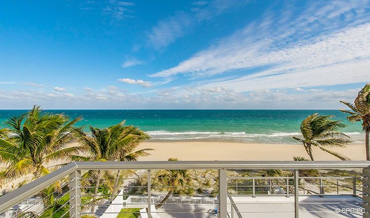 Roof Deck Views from Luxury Oceanfront Home, 2712 North Atlantic Boulevard, Fort Lauderdale, Florida 33308