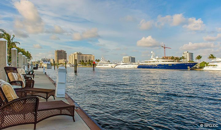 Intracoastal Views from Estate Home 709 Idlewyld Drive, Fort Lauderdale, Florida 33301