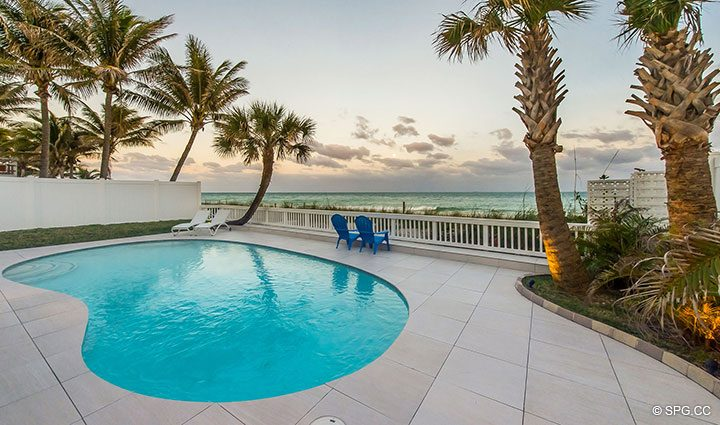 Oceanfront Pool Deck at Luxury Oceanfront Home, 2712 North Atlantic Boulevard, Fort Lauderdale, Florida 33308