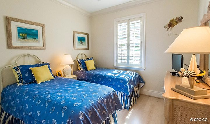 Guest Room in Residence 3A at 1153 Hillsboro Mile, a Luxury Oceanfront Townhome For Rent in Hillsboro Beach, Florida 33062
