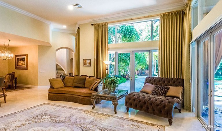 Family Room inside Luxury Estate Home, 16260 Bridlewood Circle, Delray Beach, Florida 33445