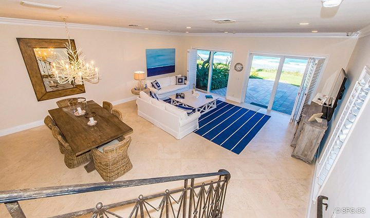 Stairway View in Residence 3A at 1153 Hillsboro Mile, a Luxury Oceanfront Townhome For Rent in Hillsboro Beach, Florida 33062